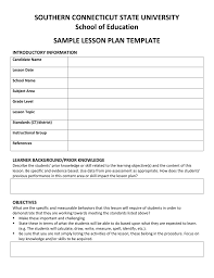 Lesson Plan Sheets Appendix D Sample Lesson Plan Template