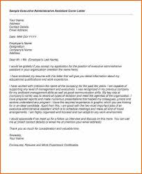 administrative assistant cover letter executive administrative assistant cover letter sample