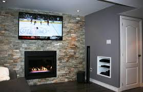 adding a gas fireplace to finished basement ideas