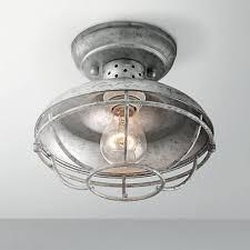 galvanized lighting fixtures. Franklin Park 8 1 2 Wide Galvanized Outdoor Ceiling Light 4F505 Throughout Fixtures Ideas 14 Lighting G