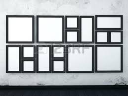 black picture frames wall. Black Picture Frames On Wall Mock Up Frame The White In .