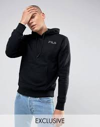 fila asos. fila black hoodie with small logo in exclusive to asos asos