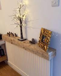 pallet radiator shelf used for displaying things