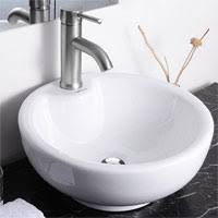 small vessel sinks. Aquaterior-round-bowl-bathroom-porcelain-vessel-sink-white- Small Vessel Sinks A