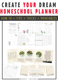 Design Your Own Homeschool Build Your Own Homeschool Planner Wonder Wildness