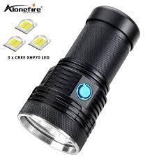 AloneFire Siêu sáng XHP70 60 W mạnh mẽ nhất led đèn pin 13000lm công suất  cao có thể sạc lại đèn flash led ánh sáng đèn lồng cắm trại|Đèn Pin LED