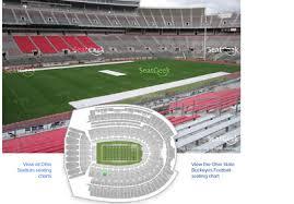 Ohio State University Horseshoe Stadium Seating Chart 2 Season Tix Ohio State University Football 2018 Osu