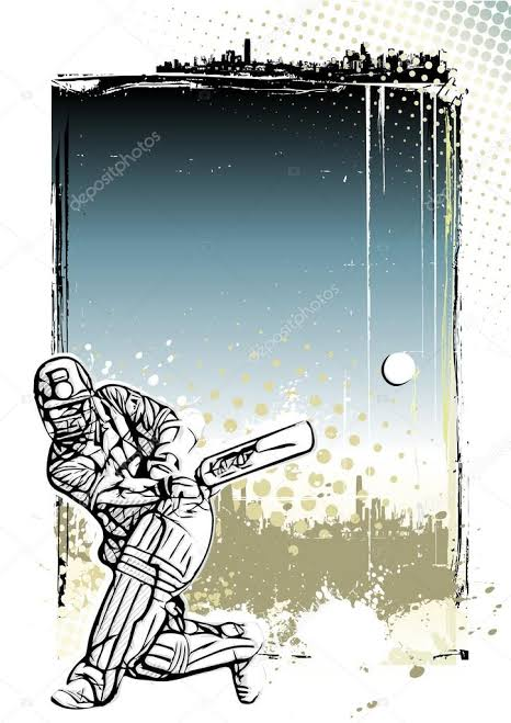 Since we are talking about past ecology of cricket, this picture depicts a batsman playing a shot. Past Cricket Ecology and Media.