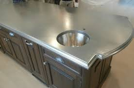 bistro collection metal countertops beautiful how to make concrete countertops
