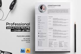 page resume photos graphics fonts themes templates professional single page resume
