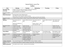 sample lesson plan for preschool download free weekly lesson plan template lots of free