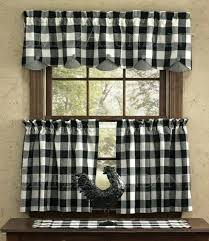 best buffalo check curtains images on chess black and white kitchen curtains scalloped valance by park
