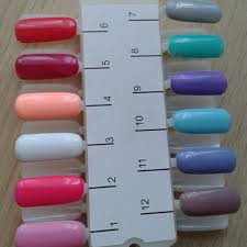 Nail Color Chart Us 0 98 20 Off Fairyglo 24 Tips Color Chart Gel Nail Polish Display Palette Tool Acrylic False Nail Tips Portable Practice Nail Diy Design Tool In