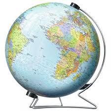 world globe on stand. 3D World Globe Puzzle \u0026amp; Stand 540 Piece On