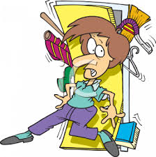 closed door clipart. Woman Trying To Close The Door Of A Closet Overflowing With Stuff - Royalty Free Clip Art Illustration Closed Clipart H
