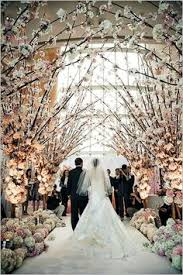 decor with branches for our ceremony and then dinner tables wedding aisles winter wedding