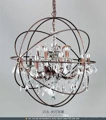 industrial crystal chandelier industrial lighting restoration hardware vintage crystal chandelier pendant lamp iron orb chandelier rustic