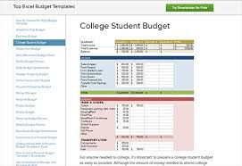 how to budget as a college student free budgeting templates resources for college students