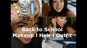 back to makeup hair outfit ideas