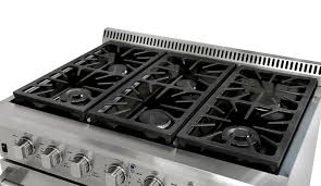 spacious 6 burner cooktop allows effortless meals large or small gas range s27