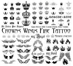 Set Og Black And White Design Elements For Tattoo Monograms