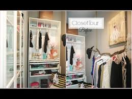 Bedroom Closet Tour before Closet Organization Ideas Walk In Closet Diy Misslizheart Youtube Youtube Closet Tour before Closet Organization Ideas Walk In Closet
