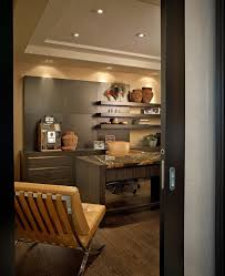 contemporary residence boca raton florida example of a trendy home office design in miami with dark chic ikea home office
