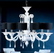 black lampshades modern murano glass chandelier priuli