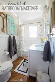 Cheap Bathroom Makeover Cool Beautiful CottageStyle Bathroom Makeover