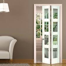cayman white primed bifold door clear safety glass in chic glass bifold doors for your home
