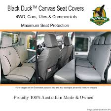 black duck canvas denim seat covers to fit ford ranger px2 xl xls