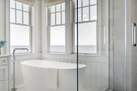Contemporary Master Bathroom With Freestanding Bathtub U0026 Rain Free Standing Tub With Shower