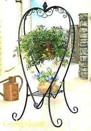 free standing wrought iron plant hangers wrought iron plant hangers outdoor hanger architecture home design