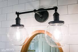 Black Farmhouse Bathroom Lighting Modern Farmhouse Bathroom Reveal With Boho Vibes Modern