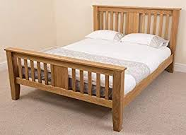 wooden king size bed. Brilliant Wooden Boston 5ft Solid Oak Kingsize Bed Frame 220 X 164 110 Cm In Wooden King Size