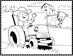 Farm Colouring Pages Free Printables Farm Coloring Sheets Tractor