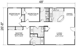 28 X 50 Floor Plan 3 Bedroom 28 X 48 Floorplan 1 Floor Plans