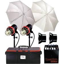 Speedotron Lights Speedotron 1205cx 2 Cc Head Air Travel Kit Includes 1205cx 1200 W S Power Pack 2 202vf Color Corrected Flash Heads Umbrellas Sync Cord