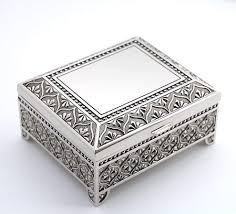a silver gift box is the perfect 25th wedding anniversary gift to give your wife this silver box is ornate and looks stunning as a gift