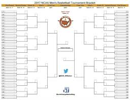 March Madness 2017 Download Your Printable Ncaa Tournament Bracket