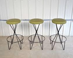 Paul Tuttle Set of 3 Mid Century Modern Bar Stools 2