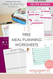 Meal Budget Planner 15 Free Meal Planning Worksheets Frugal Fanatic