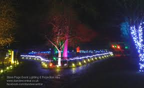 outdoor party lighting hire. outdoor lighting at camperdown event dundee illuminations party hire