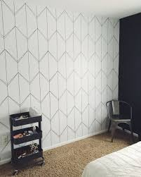 also don t forget to focus on the other black wall that gives a great contrast with it diy wallpaper 8