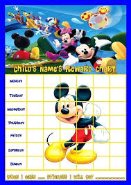 Printable Potty Training Chart Mickey Mouse Best Picture