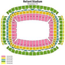 Reliant Seating Chart Texans Nrg Stadium Seating Chart Views And Reviews Houston Texans
