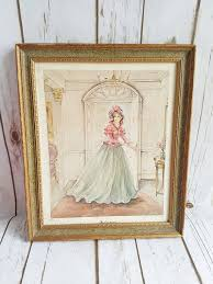 vintage lady drawing wall decor shabby chic by shabbychicjcouture on shabby chic wall art pinterest with vintage lady drawing wall decor shabby chic frame victorian lady
