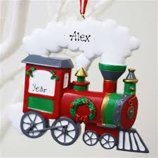 personalised christmas ornament train