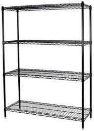 at com storagemax storage max black wire shelving unit 18 x 36 x 63 4 shelves
