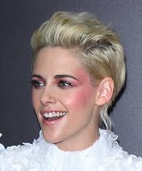 short wavy formal light blonde side view